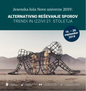 Jesenska šola Nove univerze – Alternativno reševanje sporov 2019